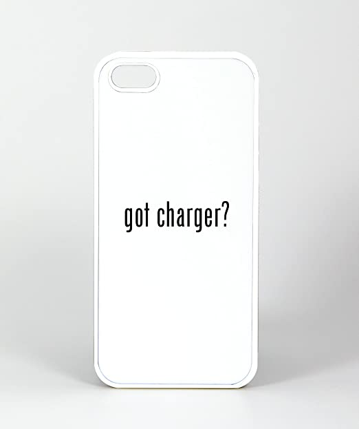 Got Cargador? - iPhone 4, 4s Funda, Caucho), color blanco ...