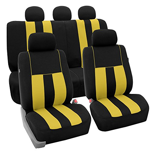 yellow mustang car seat covers - 8