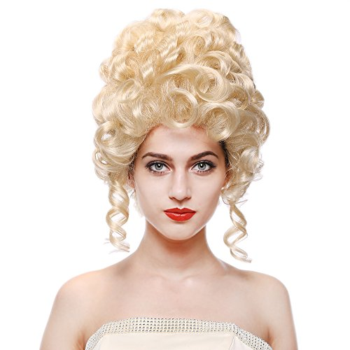 STfantasy Tall Beehive Wig Blonde Curl Kinky Long for Women Costume Cospaly Party Hair 14