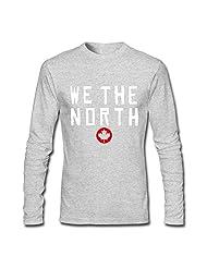 Men's Raptors Basketball WE THE NORTH Maple Leaf T-shirts Black