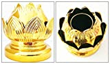 Gold Plated Candle Holder Lotus Flower 5''