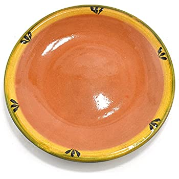 Mexican Clay Plate - 10in Trefoil Design