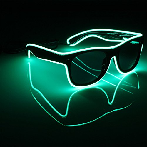 yinpinxinmao Glow glasses LED Glasses EL Wire Light-Up Frame for Night Party