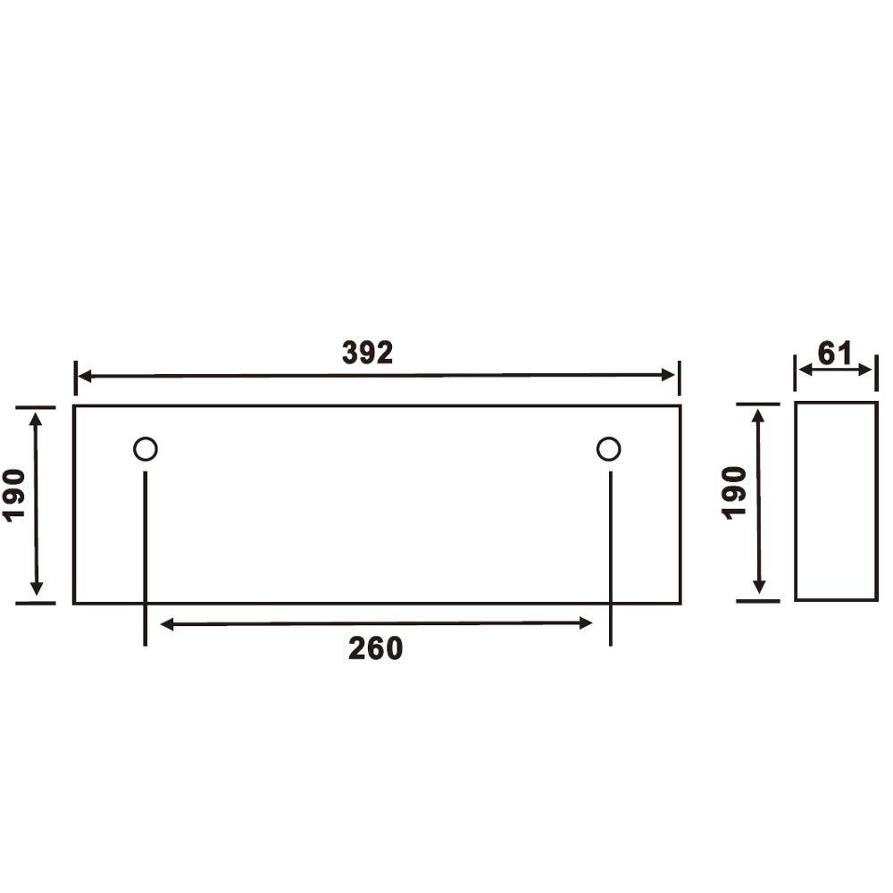 Biard Señal con Luz de Emergencia LED Cuadrada de Salida Flecha hacia la Derecha 3W - Luz De Mantenimiento/Sin Mantenimiento con Batería de Reserva 3 ...