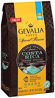 Gevalia Special Reserve Coarse Costa Rica Ground Coffee, 10 Ounce