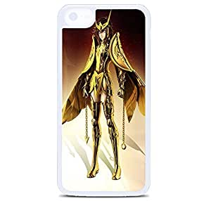 iPhone 5C Case Cover, Golden Armor Anime Girl Polycarbonate Plastic Hardshell Case Back Cover for iPhone 5C White
