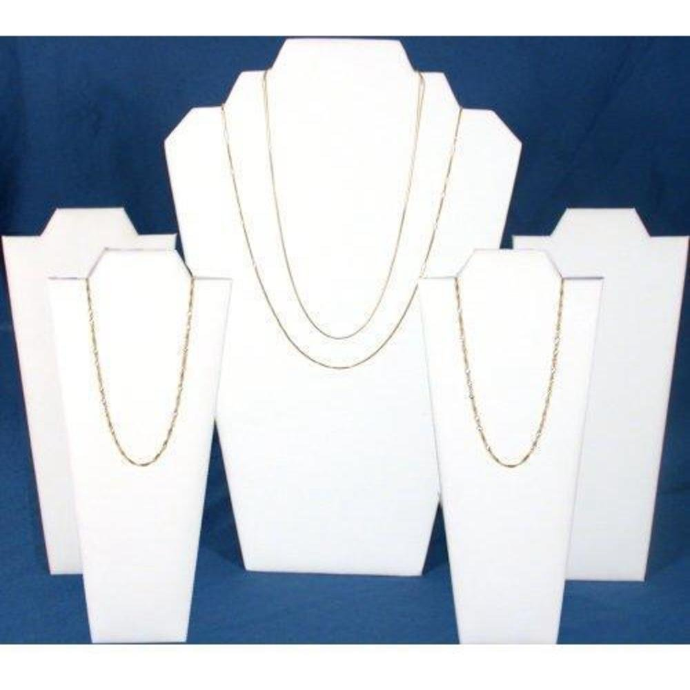 5 Leather Bust Display Necklace Chain Fixture 60-1LW 67-KLW (4)