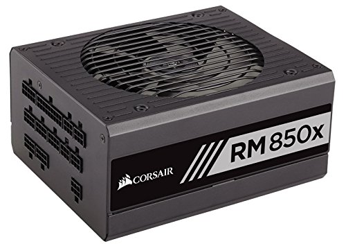 Corsair RMx Series, RM850x, 850W, Fully Modular Power Supply, 80+ Gold Certified by Corsair