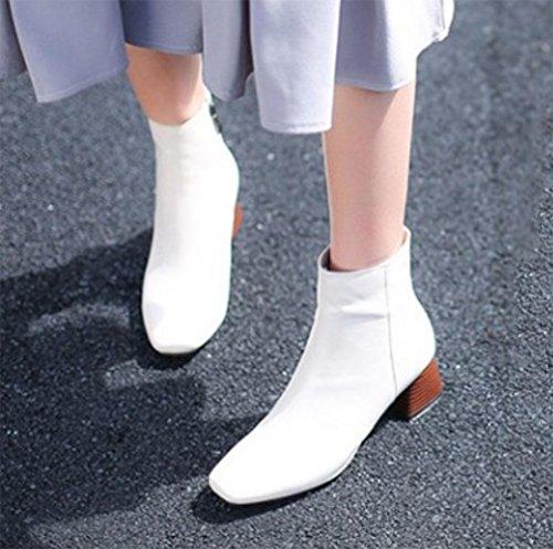 botas dentro meters botas tamaño de mujeres botas mujeres cuero de de de white aumento KUKI caliente botas botas de gran Martin las las cuadradas de otoño botas XAxnw4qvp