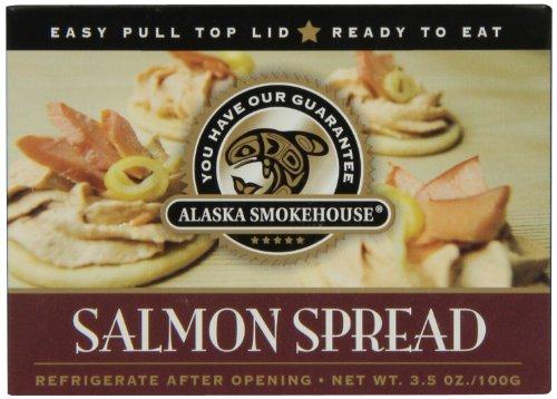 Alaska Smokehouse Salmon Spread Serving  Design, 3.5 Ounce Boxes (Pack of 6) (Alaska Smokehouse Salmon)