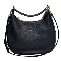 Coach Tote Leather Harley East/West Hobo Navy Midnight