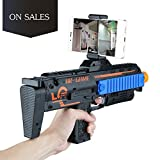 video game guns - 3D 360°AR Games Gun Augmented Reality VR Gun for Video Game with Wireless Bluetooth Connecting IOS, Android Smart Phone / App Games Action & Lerning