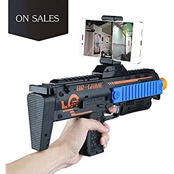 Amazon.com: 3D 360°AR Games Gun Augmented Reality VR Gun for Video Game with Wireless Bluetooth Connecting IOS, Android Smart Phone / App Games Action & Lerning: Toys & Games