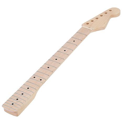 Maple Wood 22 Trastes Diapasón de Diapasón de Cuello de Guitarra Eléctrica Diapasón para ST (