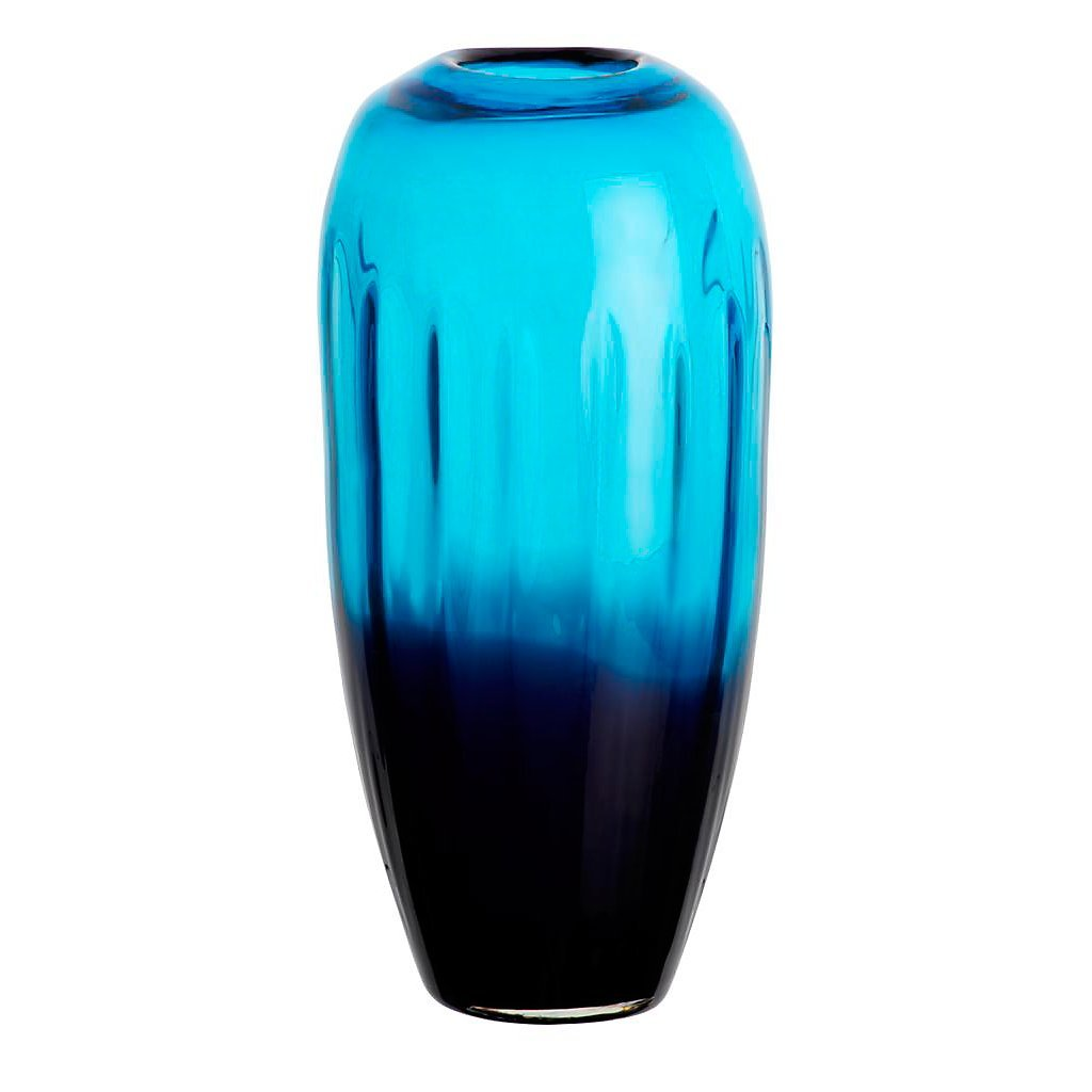 Blumenvase Glas Vase Tischvase Tischdeko Hochzeitdeko Hochzeitdeko Hochzeitdeko Raumdekoration Laguna Blau 30 cm Glasvase 97120e