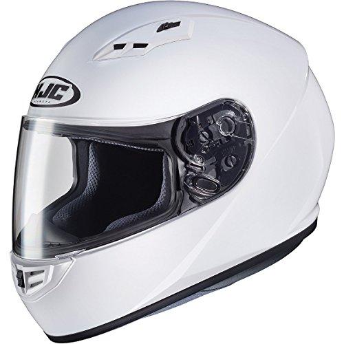Hjc Snowmobile Apparel - HJC Solid Adult CS-R3 Street Motorcycle Helmet - White/Large