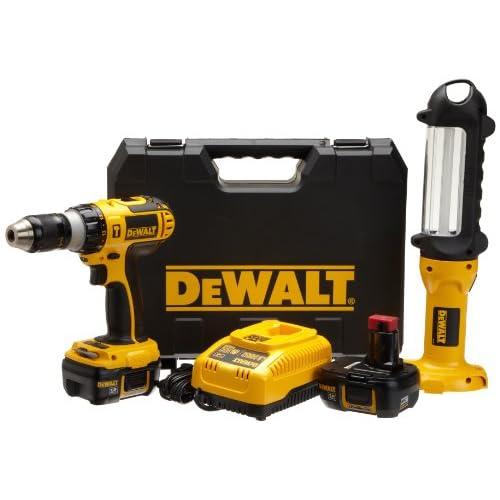 DEWALT DCD775KL-F 18-Volt Lithium-Ion Hammer-Drill and Area Light Combo Kit