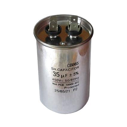 D DOLITY Condensador de Funcionamiento Motor de Condensador CBB65 450V 35UF de Funcionamiento de Motor
