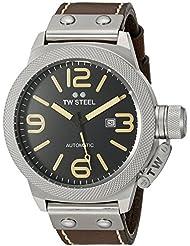 TW Steel Mens CS36 Analog Display Automatic Brown Watch