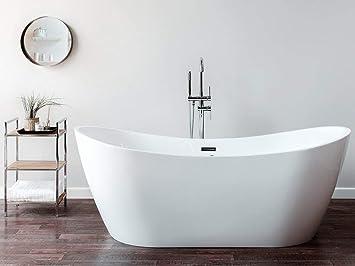 Scarico Della Vasca Da Bagno In Inglese : Beliani vasca da bagno freestanding con idromassaggio antigua