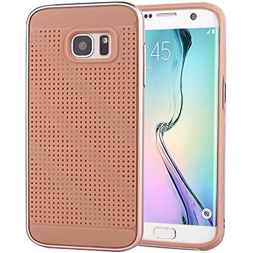 Galaxy S7 Edge Case, OLVOO PREMIUM BUMPER [Satin Silver] Bumper Style Premium Case Slim Fit Dual Layer Protective Cover for Samsung Galaxy S7edge (2016) Sales
