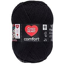 Coats: Yarn Red Heart Comfort Yarn, Black