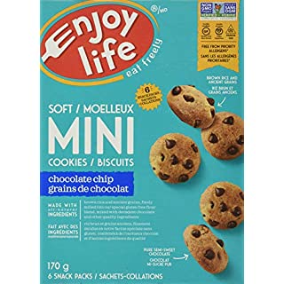 Enjoy Life, Soft Baked Mini Chocolate Chip Cookies, 6 x 1oz Snack Packs, 6 oz