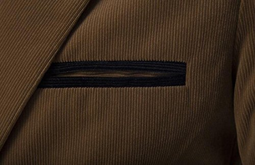 UK Khaki Blazer Sleeve Block Long Corduroy today Lapel Color Mens Suit pOx8w8d