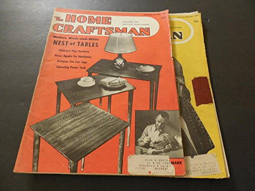 2 Issues Home Craftsman Nov-Dec 1949; Jan-Feb 1950 Nest Of Tables ()