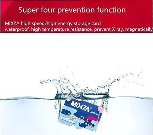 Heat /& Cold Resistant MIXZA Performance Grade 64GB Verified for Apple A2215 MicroSDXC Card is Pro-Speed Built for Lifetime of Use! UHS-395MBs