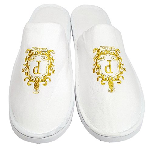 Indoor Toe Slippers Unisex White Airplane Embroidery Shoes Spa Hotel LUXURY Closed FnpzwAq54