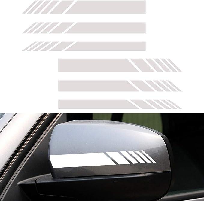 Romdink 5er Pack Auto Motorhaube Streifen Grafik Aufkleber Vinyl Auto Body Racing R/ückspiegel Aufkleber