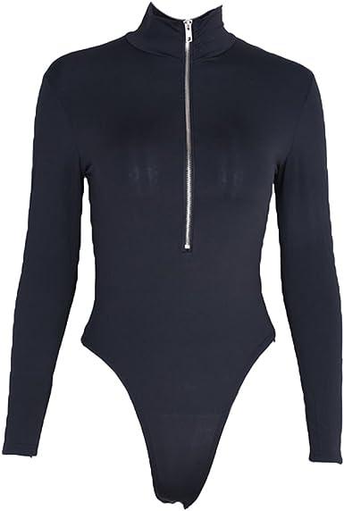 Mujer Sexy Body, Ajustado Camisa Honda Bodysuit sin Mangas Cómodo Elástica Leotard Primavera Otoño Bodycon Tops: Amazon.es: Ropa y accesorios