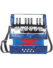Deevoka 17 Keys 8 Bass Piano Accordion Children's Toys Accordian Musical Instruments