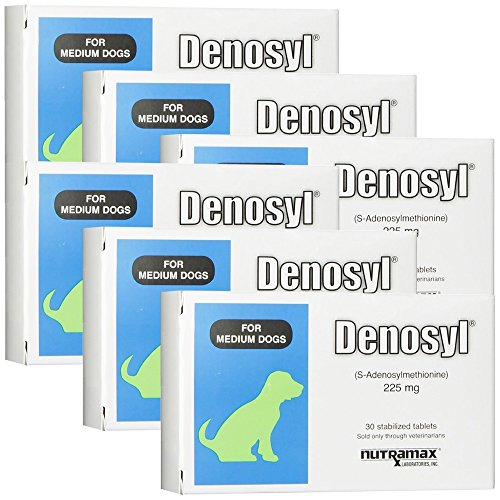 6 Pack Denosyl for dogs over 25 lbs (180 tablets) 225 mg by Denosyl