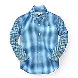Hope & Henry Boys' Gingham Woven Poplin Button Down Shirt