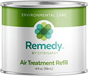CitriSafe Remedy Air Treatment Refill - Air Purifier for Home - Toxin and Mold Treatment - 4 fl oz