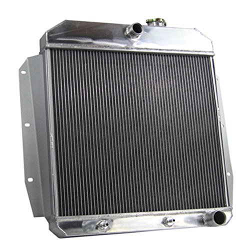 OzCoolingParts 55-59 Chevy & GMC C/K Series Radiator, 4 Row Aluminum Radiator for 1955-1959 Chevrolet GMC 3100 Apache Truck Pickup, L6/V8