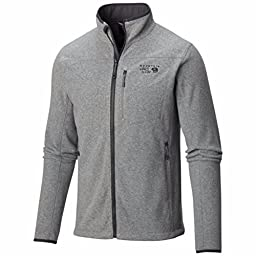 Mountain Hardwear Men\'s Strecker Jacket, Heather Titanium, X-Large