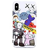 iPhone Xs Max Case Street Fashion Design, Flexible Durable Full-Protective Back Case Cover for iPhone Xs Max 6.5inch (K-White)