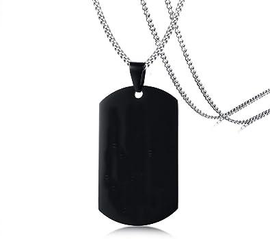 Amazon.com: yikoxi oro blanco Negro Colgante de etiquetas de ...