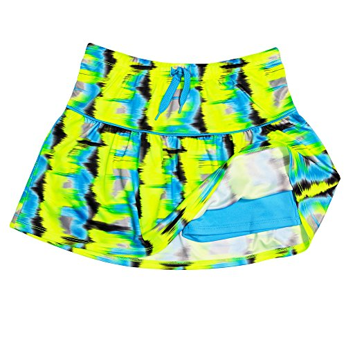1a29bb82627 10 · PUMA Girls Athletic Tennis Skort Running Active Yoga Gym Activewear  Lime Large