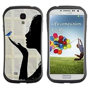 Suave TPU GEL Carcasa Funda Silicona Blando Estuche Caso de protección (para) Samsung Galaxy S4 I9500 / CECELL Phone case / / Book Fairytale Blue Bird Painting /