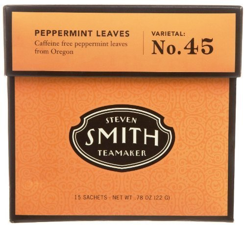 (Smith Teamaker Peppermint Leaves Blend No. 45 (Large Cut Herbal Infusion), 0.78 oz, 15 Bags)