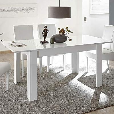 Kasalinea - Mesa Blanca 140 con alargador, diseño Palermo: Amazon ...
