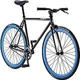 Pure Fix Original Fixed Gear Single Speed Bicycle, Bravo Black/Blue, 54cm/Medium
