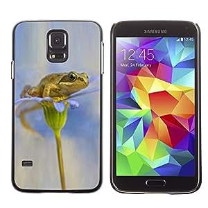 TopCaseStore / la caja del caucho duro de la cubierta de protección de la piel - Flower White Snow Anemone - Samsung Galaxy S5 SM-G900