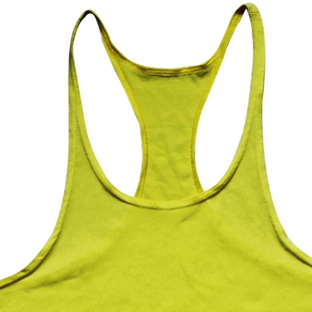 Tops Camisa sin Mangas de Verano Fitness Color s/ólido Sallydream Camiseta de Tirantes Deportes para Hombre