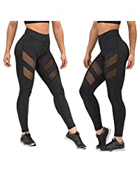 2017 Yoga Pants Changeshopping Women Quick-drying Patchwork Mesh Skinny Leggings