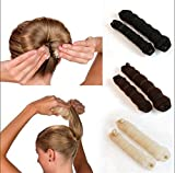 2pcs Sponge Hair Styling Donut Bun Maker Magic Former Ring Shaper Styler Tool